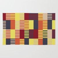 bauhaus Area & Throw Rugs featuring Bauhaus by ohkj