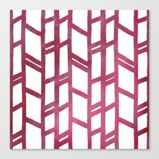 Maroon skyscraper pattern Canvas Print