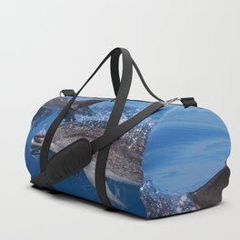 Mother and baby spotted dolphin Duffle Bag
