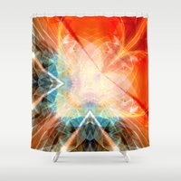 angel Shower Curtains featuring Angel by Christine baessler