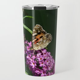 Painted Lady butterfly on buddleia Travel Mug