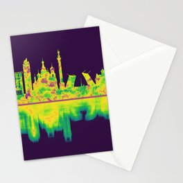 St. Petersburg Russia Skyline Stationery Cards