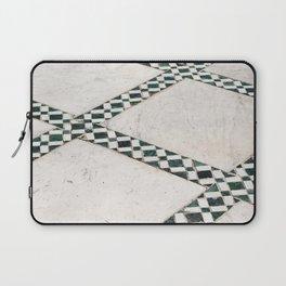 Moroccan Floor Tiles In Green Photo | Bahia Palace Pattern Marrakech Art Print |  Travel Photography Laptop Sleeve