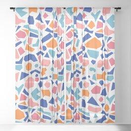 terrazzo 002 Sheer Curtain