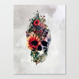 Two Face Skull Canvas Print