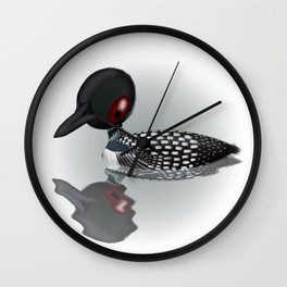 Common Loon (Canavians Series) Wall Clock