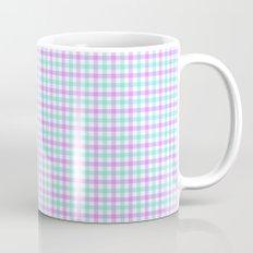 Gingham purple and teal Mug