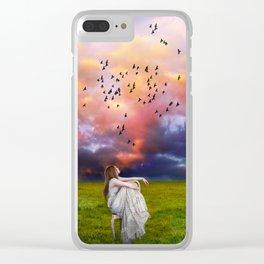 Dreamer Clear iPhone Case