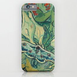 Van Gogh, Giant Peacock Moth, 1889 iPhone Case