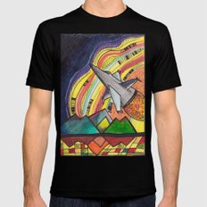 The Sky is the Limit MEDIUM Mens Fitted Tee Black