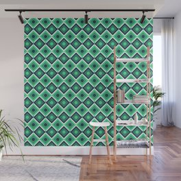 Checkered pattern design art Wall Mural
