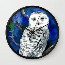 Snowy Owl, Alaska Wildlife Wall Clock