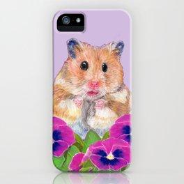 Cute Little Hamster iPhone Case