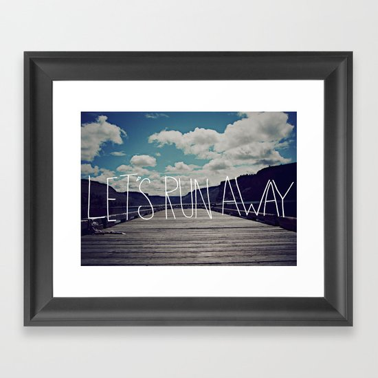 Let's Run Away: Detroit Lake, Oregon Framed Art Print