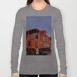 Lil Red Caboose -Wellsboro Ave Hurley ArtRave Long Sleeve T-shirt