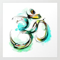 ohm Art Prints featuring Ohm by Abby Diamond