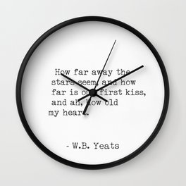 William Butler Yeats 3 Wall Clock