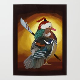 Warrior Duck Poster