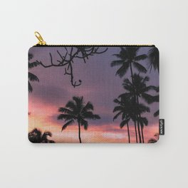 plam sunset Carry-All Pouch