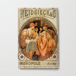 Vintage poster - Heidsieck and Co. Metal Print