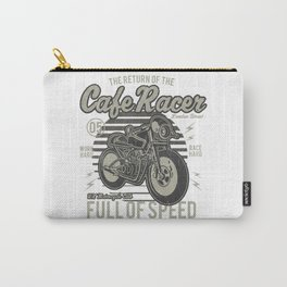 Caferacer Motorcycle Vintage Poster Carry-All Pouch