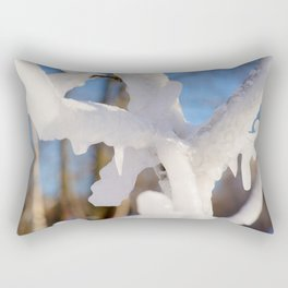 Ice-Covered Branches Rectangular Pillow