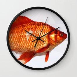 Geometric Goldfish Wall Clock