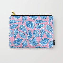 Blue Shells on Pink Carry-All Pouch