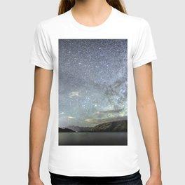 New Zealand Southern Hemisphere Skies Over Lake Wakatipu by OLena Art T-shirt