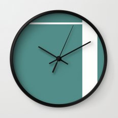 Teal Stripe (1) Wall Clock