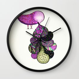 and your bird can puke Wall Clock