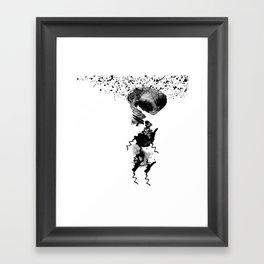 human in shower Framed Art Print