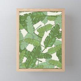 Banana Leaf Print Framed Mini Art Print
