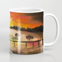 running at dusk 1 Coffee Mug