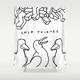 CHIP THIEVES Shower Curtain