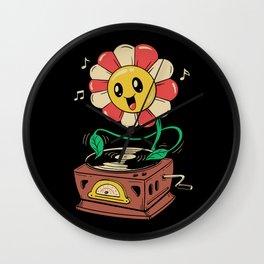Vinyl Flower Wall Clock