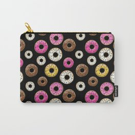 Donut Pattern - Black Carry-All Pouch