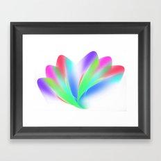 Fanned (on White) Framed Art Print
