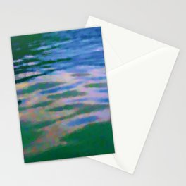 Lakeside abstract Stationery Cards