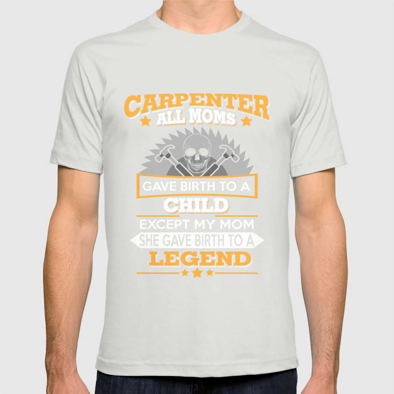 64666b76 Funny Carpenter T Shirts Proud Carpenter Gift T-shirt by amatees | Society6