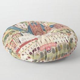 Vilnius, the capital city of Lithuania Floor Pillow