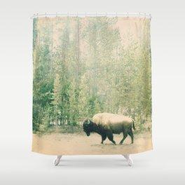 bison I Shower Curtain