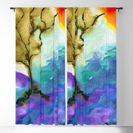 Galapagos Sandscape #Abstract #Watercolors Blackout Curtain