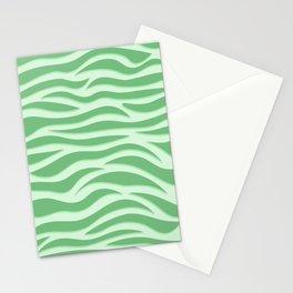 Green Tiger Stripe Stationery Cards