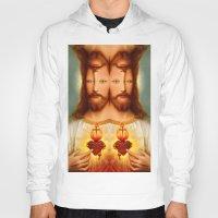 christ Hoodies featuring Lysergic Christ by Saint Lepus
