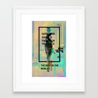 napoleon Framed Art Prints featuring Napoleon by lisowicz