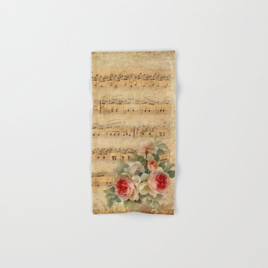Vintage Music #1 Hand & Bath Towel