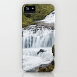 Waterfall in Iceland - landscape photography iPhone Case