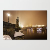 prague Canvas Prints featuring Prague 6 by Veronika