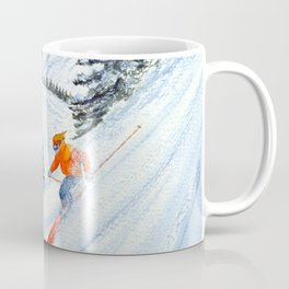 Skiing - The Clear Lady Leader Coffee Mug